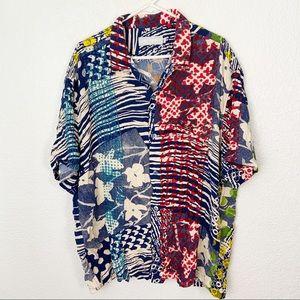 Jams World Floral Button Down Simpson Print Shirt